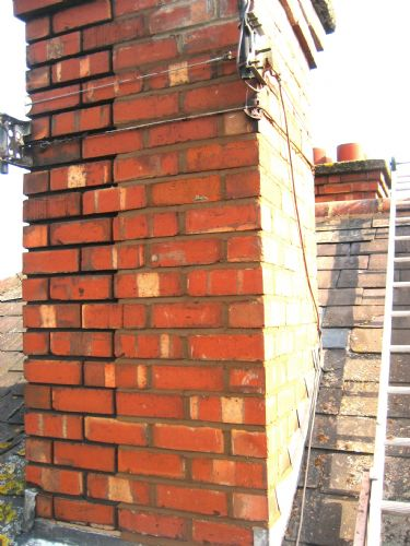 Chimney repointing